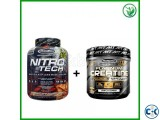 OFFER Nitrotech Whey 4 lbs Platinum Creatine 80 Serving