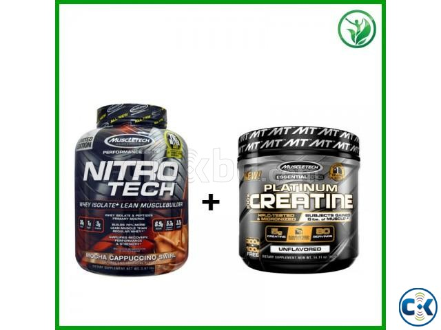 OFFER Nitrotech Whey 4 lbs Platinum Creatine 80 Serving | ClickBD large image 0