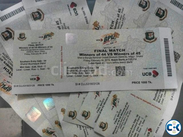 BPL Final Match 08-02-2019 Tickets | ClickBD large image 0