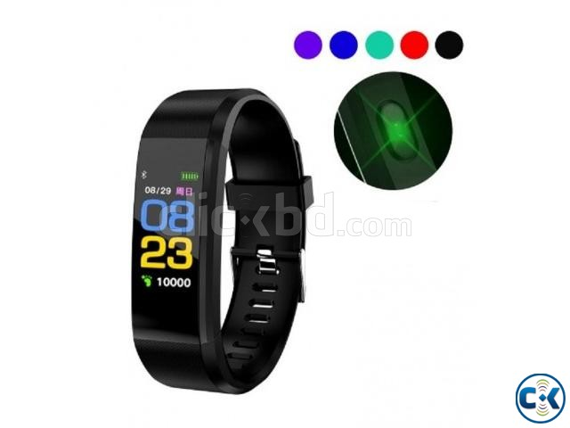 115 PLUS Smart Bracelet Heart Rate Monitor Blood Pressure | ClickBD large image 0