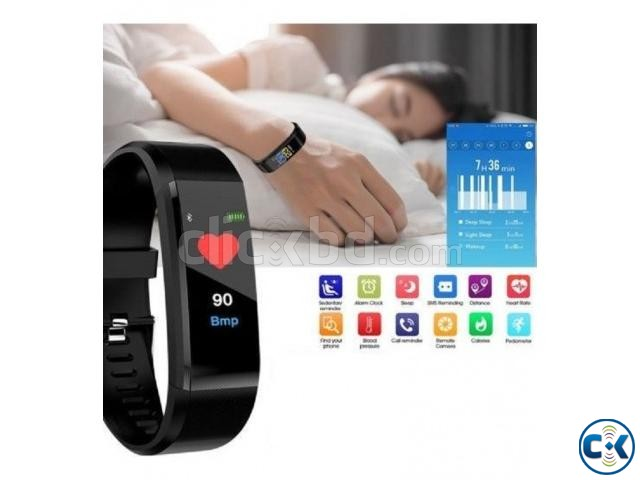 115 PLUS Smart Bracelet Heart Rate Monitor Blood Pressure | ClickBD large image 1
