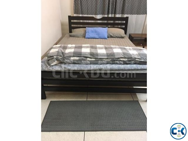 Queen size bed with new OTOBI mattress barely used | ClickBD large image 0