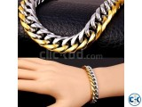 Men s Stainless Steel Gold Silver Plated Bracelet