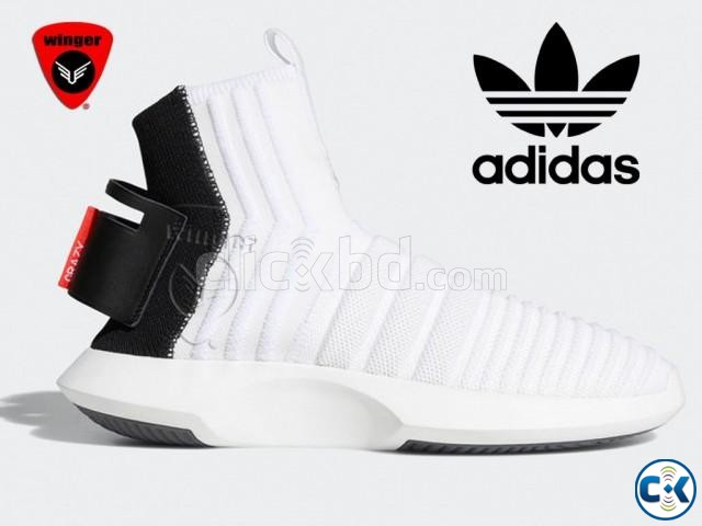 Adidas Crazy 1 Sock ADV Primeknit Shoes White  | ClickBD large image 0