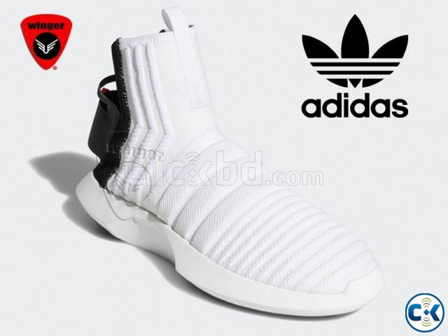 Adidas Crazy 1 Sock ADV Primeknit Shoes White  | ClickBD large image 1