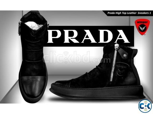 Prada High Top leather Sneaker 1 | ClickBD large image 2