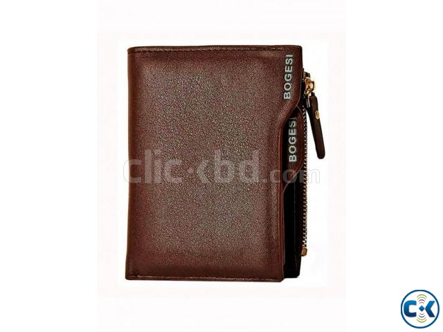 BOGESI Leather Wallet Brown | ClickBD large image 0