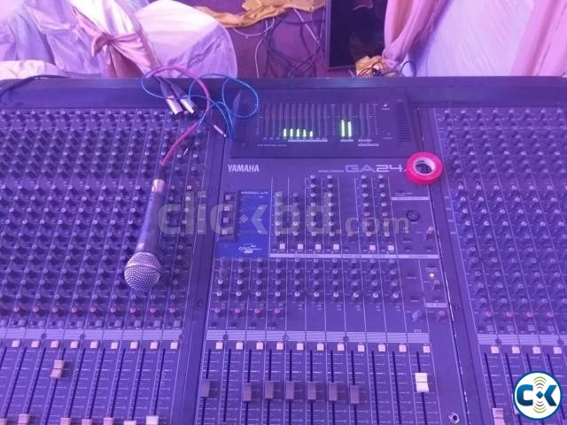 Yamaha 24 Channel Mixer GA 24 12 Used Call 01911910004 | ClickBD large image 1