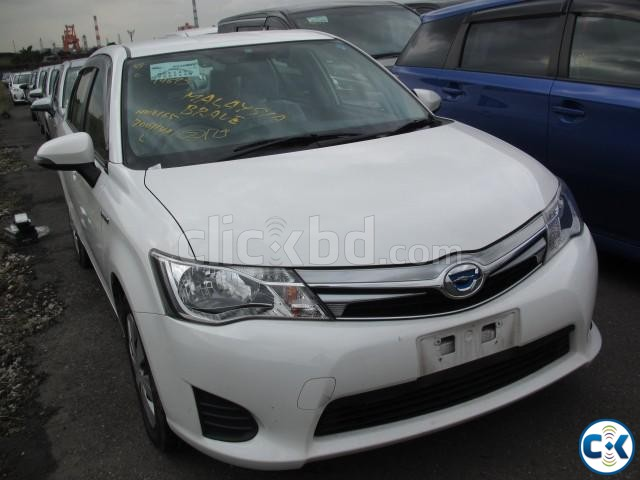 Toyota Axio Hybrid White 2013 | ClickBD large image 1
