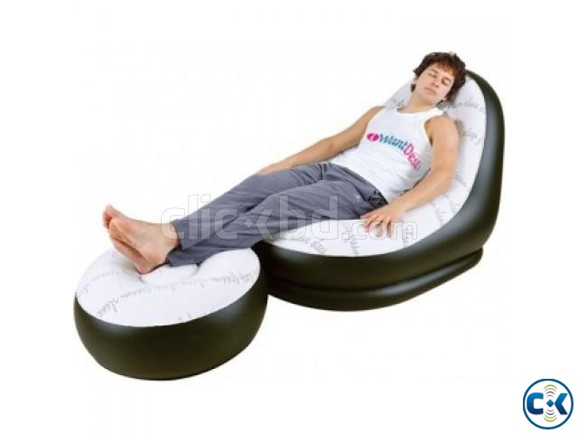2 in 1 Air Chair and Footrest Sofa | ClickBD large image 0