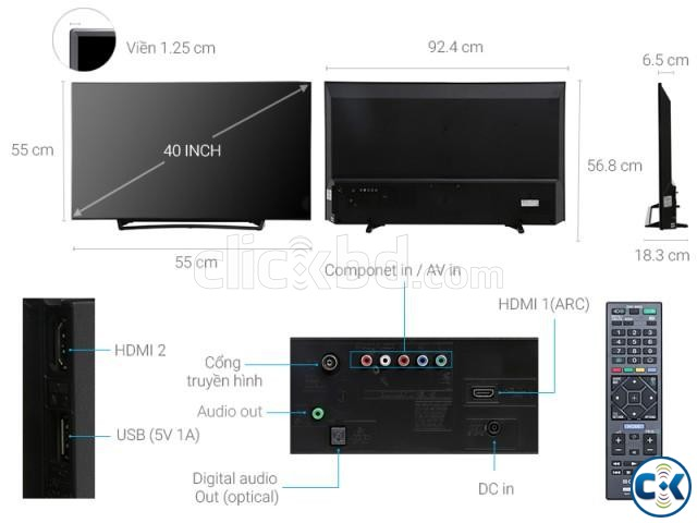 Sony Bravia R352E 40 USB Playback Full HD Television | ClickBD large image 2