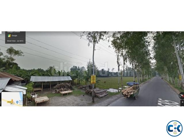 Road side land 17 acre for sale at dhaka-dinajpur highway | ClickBD large image 0