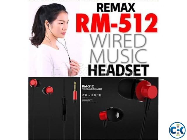 Remax RM-512 3.5mm Wired Music Earphone | ClickBD large image 0