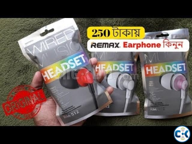 Remax RM-512 3.5mm Wired Music Earphone | ClickBD large image 1