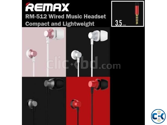 Remax RM-512 3.5mm Wired Music Earphone | ClickBD large image 2