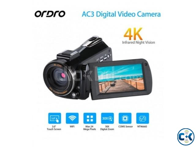 ORDRO AC3 4K Ultra HD 60FPS Video Camera with Wifi External | ClickBD large image 0