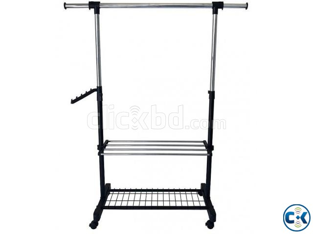 APPAREL SINGLE HANGER RACK - DOUBLE RACK  | ClickBD large image 0