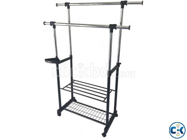 APPAREL DOUBLE HANGER RACK - DOUBLE RACK  | ClickBD large image 0