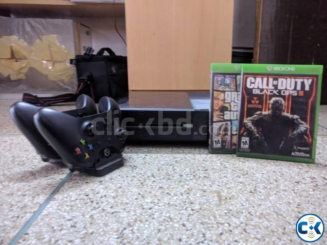 Xbox One Black bought from USA with games and tonne of acces | ClickBD large image 0