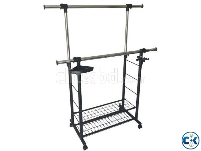 APPAREL DOUBLE HANGER RACK - DOUBLE RACK PORTABLE  | ClickBD large image 0