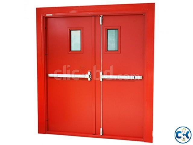 UL Listed Fire Rated Hollow Metal Door With Panic Bar | ClickBD large image 0