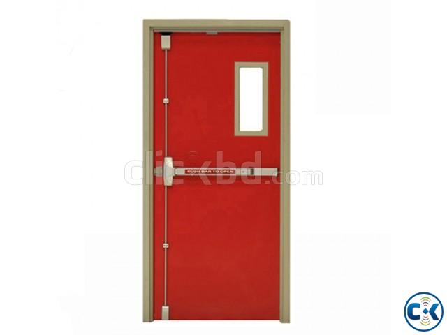 UL Listed Fire Rated Hollow Metal Door With Panic Bar | ClickBD large image 1