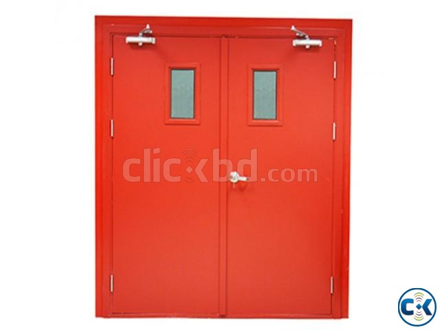 UL Listed Fire Rated Hollow Metal Door With Panic Bar | ClickBD large image 2