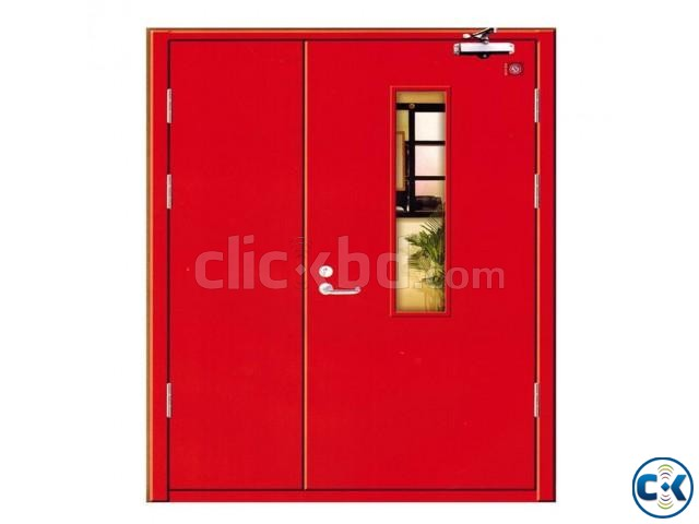 UL Listed Fire Rated Hollow Metal Door With Panic Bar | ClickBD large image 3