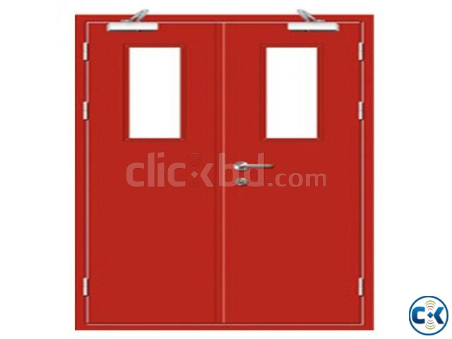 UL Listed Fire Rated Hollow Metal Door With Panic Bar | ClickBD large image 4
