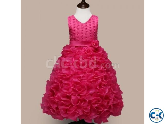 Party Dress-Red Rose 304-T93I 4784 1A00-AKD1703-T93I 4784 | ClickBD large image 0