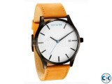 MVMT CLASSIC SERIES 45 MM WHITE TAN LEATHER Wrist Watch