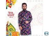 Boishaki Panjabi Navy Blue Colors