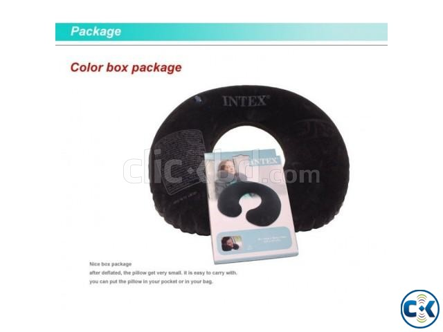 Inflatable intex Air Travel Pillow | ClickBD large image 1