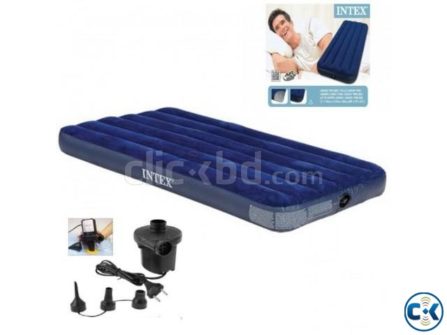 intex Single Air Bed in BD Free Pumper | ClickBD large image 1