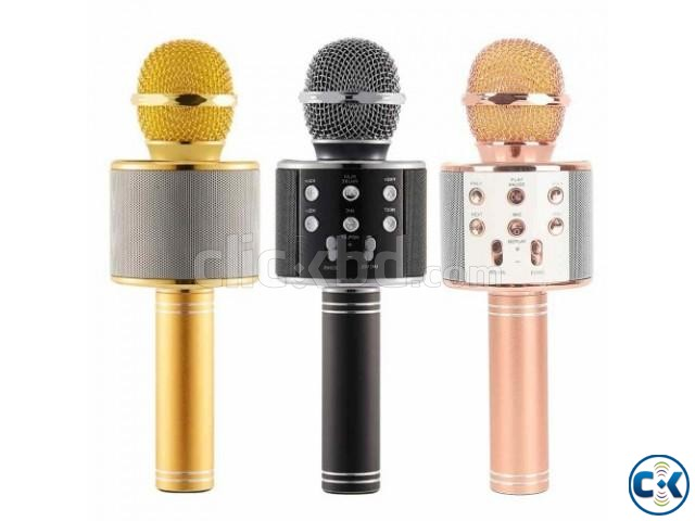 Bluetooth Microphone WS-858 Karaoke in BD | ClickBD large image 1