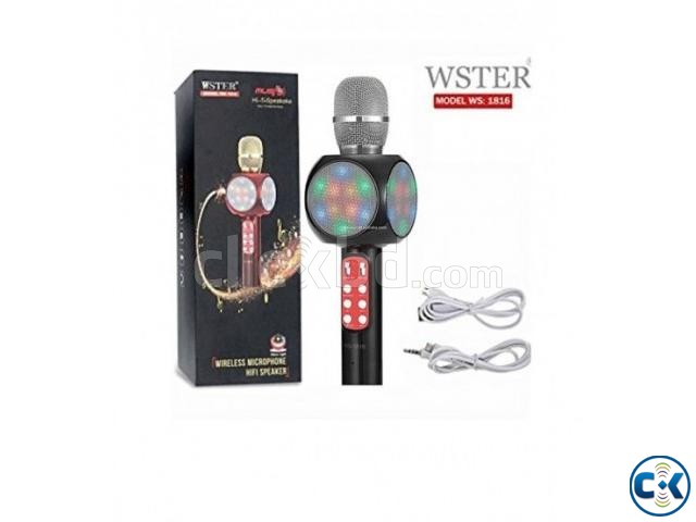 WS1816 Wireless Bluetooth Karaoke Microphone | ClickBD large image 1