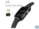 Bakrry X6 Smart Watch Phone Carve Display