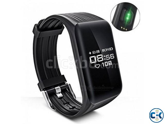 K1 Smart Band Bracelet Heart Rate Monitor waterproof | ClickBD large image 0