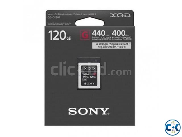 Sony 120GB G Series 440Mb s High Speed XQD Memory Card | ClickBD large image 0
