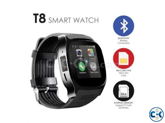 T8 Smart Mobile Watch Sim Supported Bluetooth Camera | ClickBD large image 2