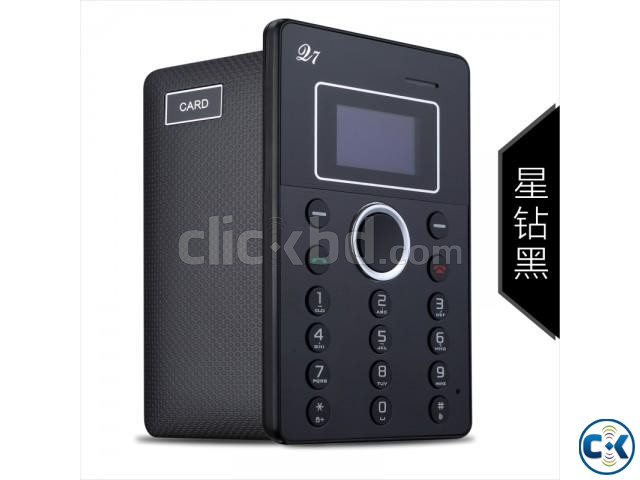 AiEK Q7 Mini Card Phone Bletooth Dial FM | ClickBD large image 0
