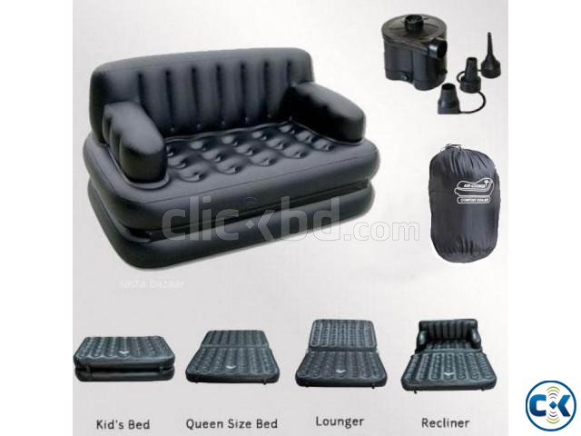 5 in 1 Air-O-Space Air Bed Cum Sofa Free Pumper New Version | ClickBD large image 0