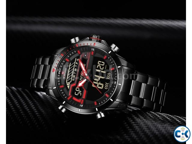 NAVIFORCE Watch Red 9133 | ClickBD large image 0
