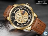 NAVIFORCE Watch Brown Blue 9142