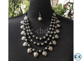 Product Beautiful Stone Multi Chain Necklace with Earring.