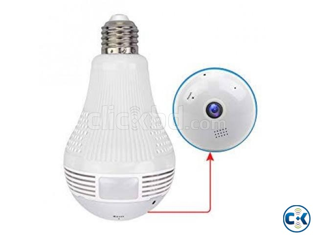 WiFi Bulb Camera Panoramic FishEye 360 | ClickBD large image 0