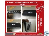 8 port 8 pin networking switch