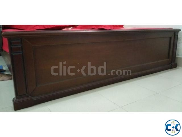 Wooden Bed-King Size Rebonded Foam Mattress-Otobi | ClickBD large image 1