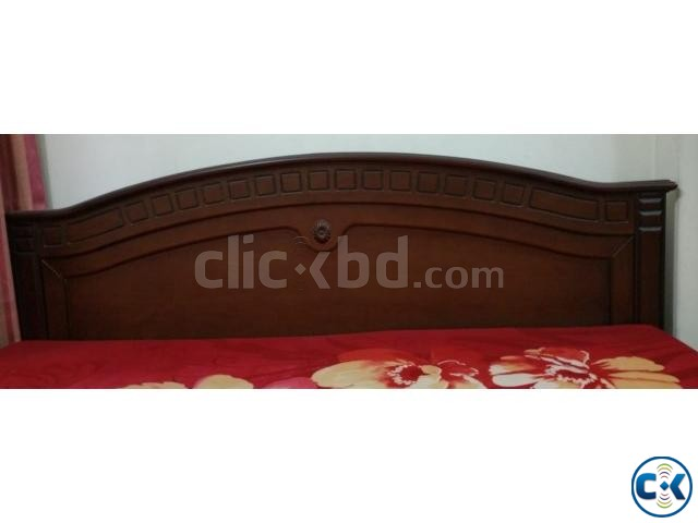 Wooden Bed-King Size Rebonded Foam Mattress-Otobi | ClickBD large image 2