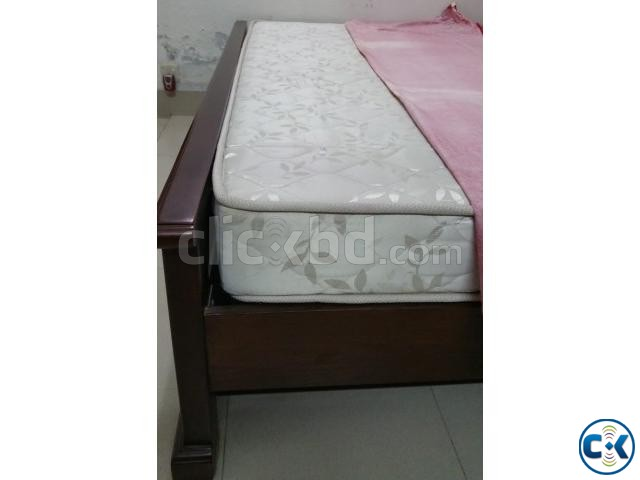 Wooden Bed-King Size Rebonded Foam Mattress-Otobi | ClickBD large image 4